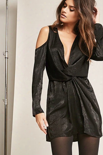 Twist-front Mini Dress