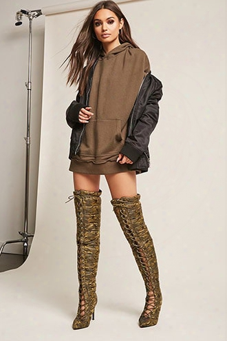 Cape Robbin Quilted Over-the-knee Camo Boots