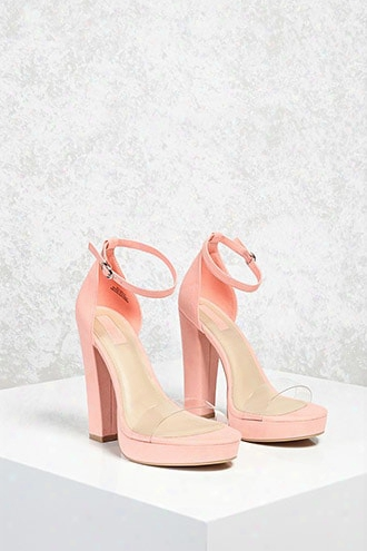 Faux Suede Chunky Heels (wide)