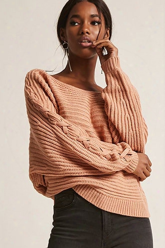 Lace-up Sleeve Sweater