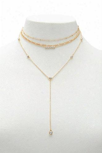 Layered Choker Necklace Set