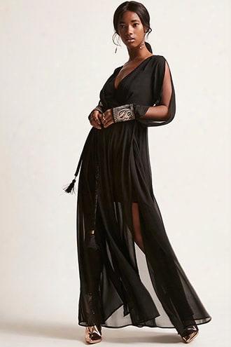 Soieblu Sheer Chiffon Gown