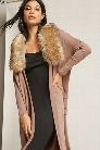 Faux Fur Open-Front Cardigan