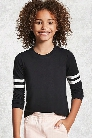 Girls Varsity Stripe Top (Kids)