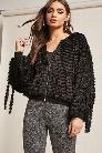 Metallic Fuzzy Knit Jacket