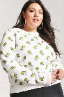 Plus Size Cartoon Dinosaur Graphic Sweatshirt