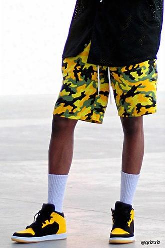 Camo Print Woven Shorts