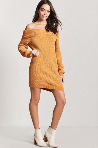 Chenille Off-the-shoulder Dress