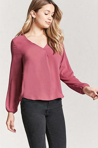 Chiffon Peasant Sleeve Top