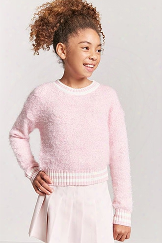 Girls Fuzzy Knit Stripe Sweater (kids)