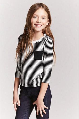 Girls Stripe Pocket Top (kids)