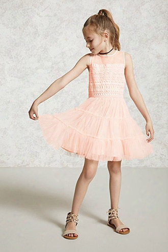 Girls Tulle Combo Dress (kids)