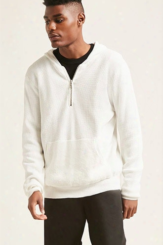 Hooded Ribbed Sweater