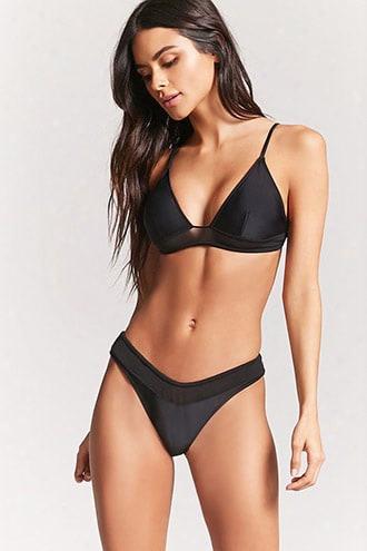 Jersey Mesh Bikini Bottoms