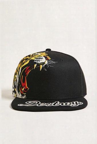 Men Reason Tiger Snapback Hat