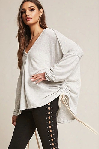 Ruched Self-tie Knit Top