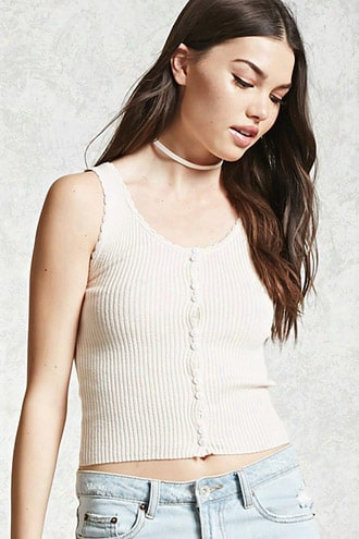 Scalloped Sweater Knit Cami