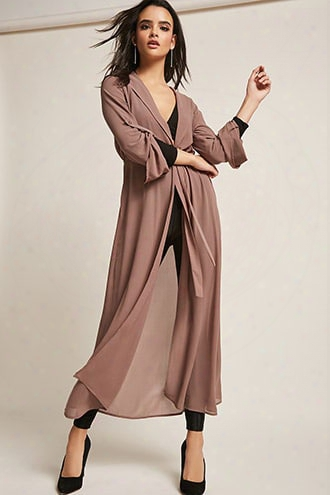 Semi-sheer Longline Cardigan