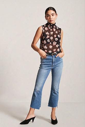 Sheer Floral Print Bodysuit