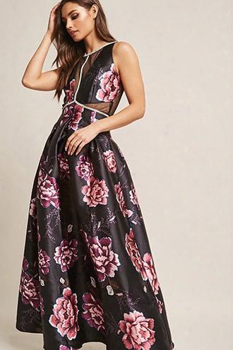 Soieblu Floral Rhinestone Maxi Dress
