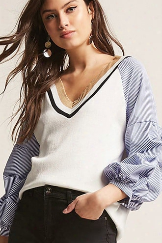 Stripe Contrast Top