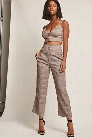Glen Plaid Crop Top & Pants Set