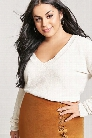 Plus Size Chenille Knit V-Neck Sweater