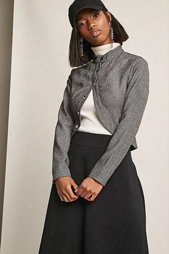 Tweed Herringbone Blazer