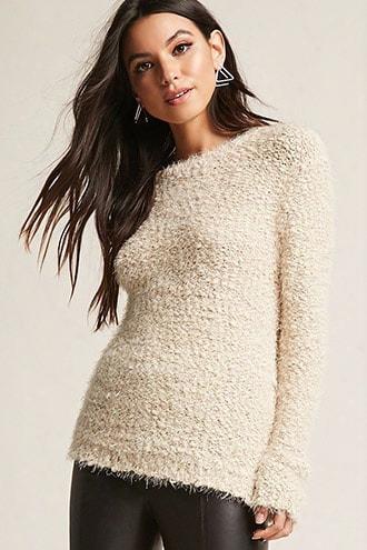 Woven Heart Boucle Sweater
