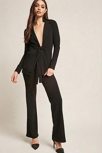 Blazer & Wide-leg Pants Set