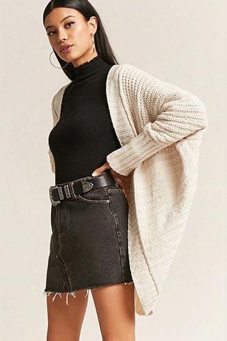 Boxy Chenille Knit Shawl Cardigan