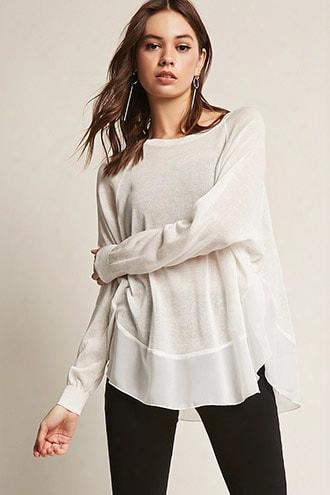 Contrast Sheer Knit Top