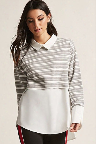 Contrast Stripe Combo Tunic