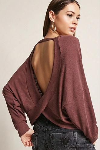 Cutout Back Sweater