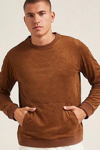 Faux Suede Sweatshirt