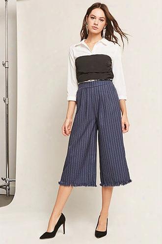 Frayed Stripe Culottes