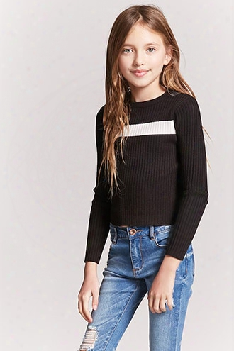 Girls Contrast-stripe Crop Top (kids)