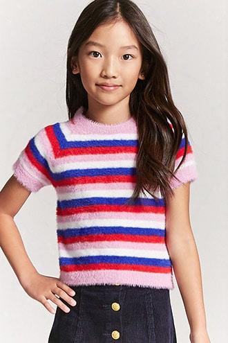 Girls Fuzzy Knit Tee (kids)