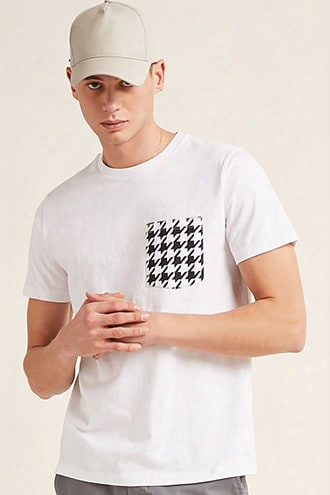 Houndstooth Pocket Tee