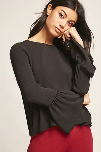Lantern-sleeve Top