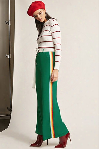 Multicolor Stripe Flare-leg Pants