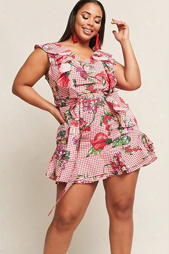 Plus Size Flo Ral Flounce Dress