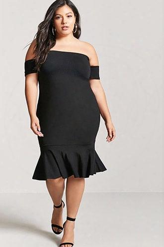Plus Size Off-the-shoulder Mermaid Dress