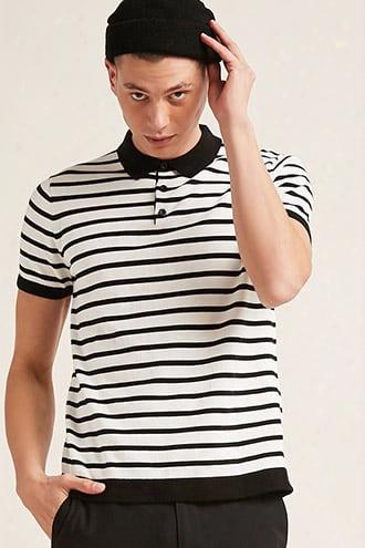 Stripe Sweater-knit Polo