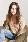 Ribbed Knit V-Cutout Sweater