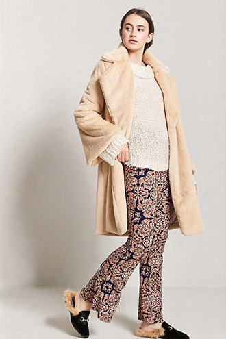 Baroque-inspired Print Flare Pants