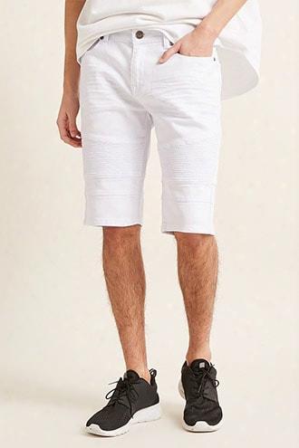 Cain & Abel Denim Moto-inspired Shorts