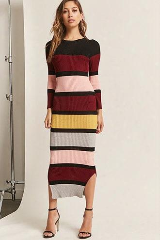 Colorblock Bodycon Maxi Dress