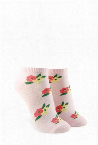 Floral Print Ankle Socks