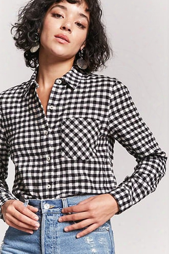 Gingham Button-front Shirt